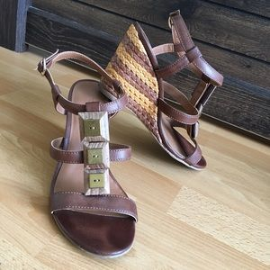 Brown Wedge Sandals by Chocolate Schubar